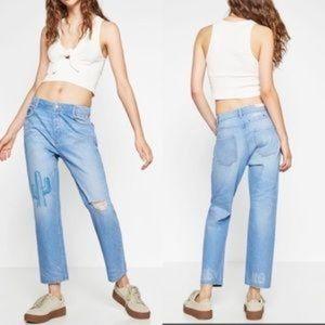 Zara Trafaluc Milano cactus embroidery jeans 2